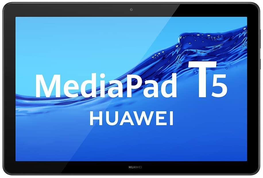 """Huawei Mediapad T5 - Tablet de 10.1"""" FullHD (Wi-Fi, RAM de 2GB, ROM de 32GB, Android 8.0, EMUI 8.0), Color Negro"""