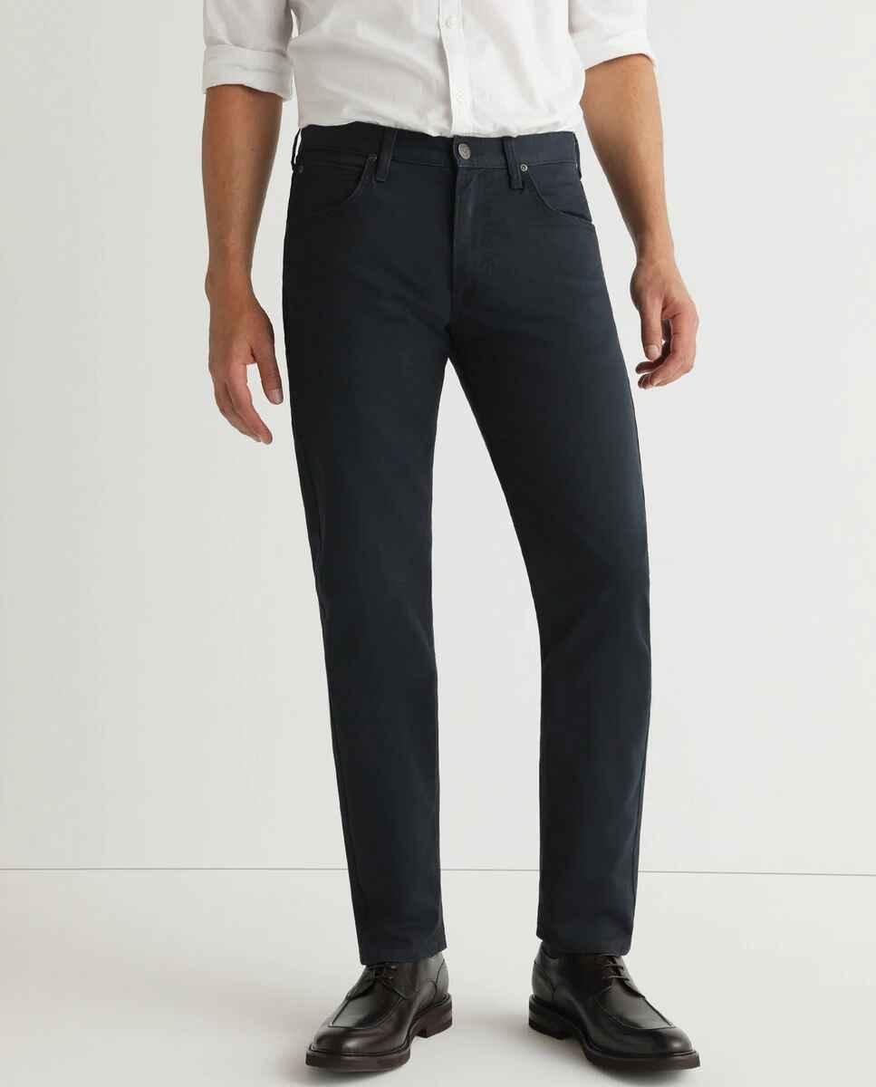 Pantalón cinco bolsillos de hombre regular azul, de LEE