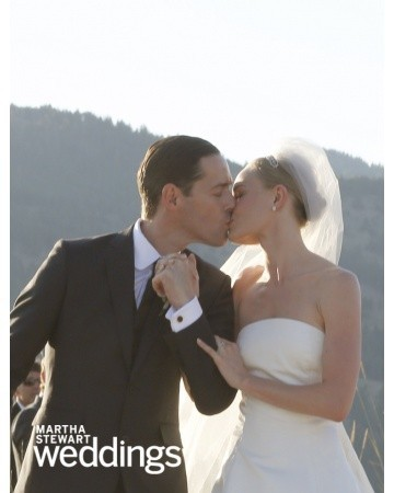 Kate Bosworth Oscar de la Renta vestido boda novia