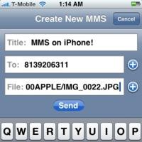 Envía MMS desde el iPhone