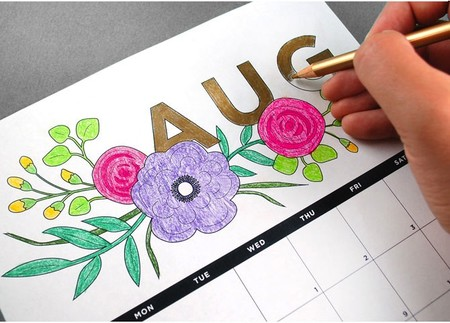 Free Printable Calendar 2019 Coloring 1