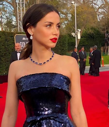 Ana de Armas debuta en la red carpet de los Globos de Oro 2020 con un impresionante vestido de lentejuelas