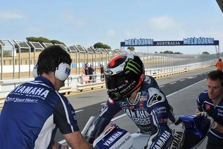Jorge Lorenzo concluye el test de Phillip Island en primera posición