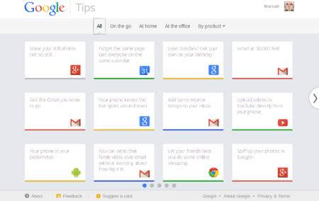Google Tips, la página de consejos para los productos de Google