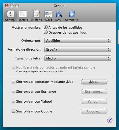 Mac OS X 10.5.3 permite sincronizar contactos de Agenda con Google
