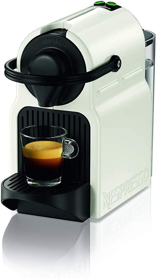 Krups Nespresso Inissia XN1001 - Cafetera monodosis de cápsulas Nespresso, 19 bares, apagado automático, color blanco, Pack cápsulas bienvenida incluido [Clase de eficiencia energética A]