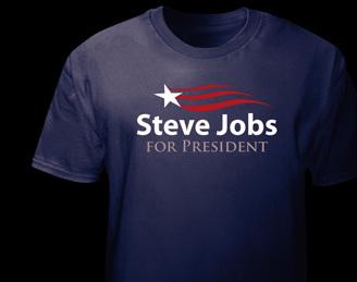 Camiseta Steve Jobs for President