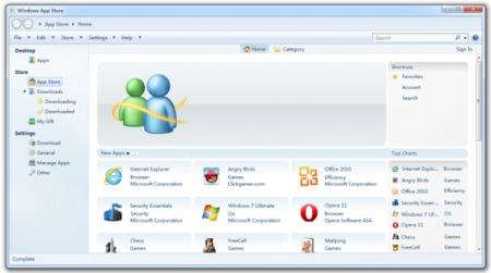 Rumor: captura de pantalla de la posible tienda de aplicaciones de Windows 8