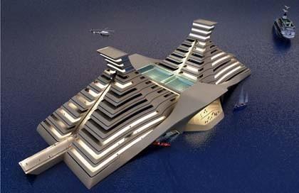 Futuro hotel de lujo flotante en Cancún