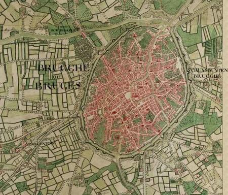Bruges Belgium Ferraris Map