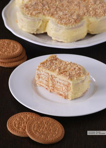 Tarta de galletas María: receta fácil sin horno