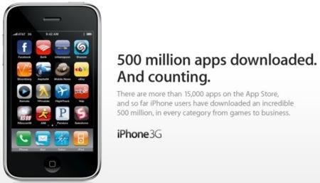 Imagen de la semana: 500 millones de aplicaciones descargadas