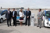GE suministra los puntos de recarga para los coches eléctricos de Aena