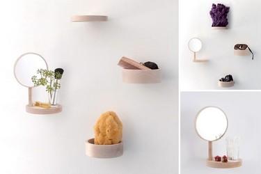 Balcon, accesorios colgantes y minimalistas para el baño