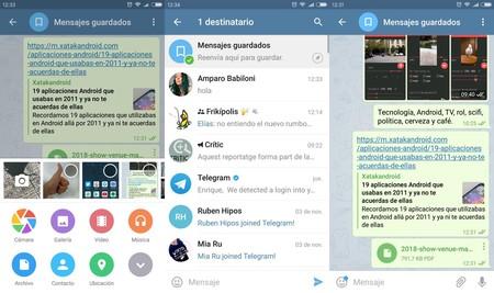 Telegram Mensajes Guardados