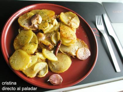 Patatas al ajillo. Receta