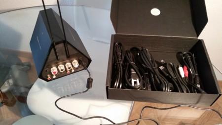Aquí podemos ver todos los accesorios de la caja