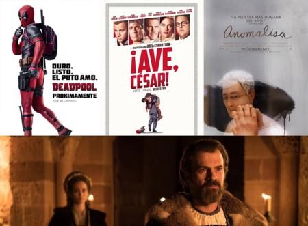 Estrenos de cine | 19 de febrero | Deadpool, Anomalisa y la corona de César