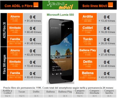 Precios Microsoft Lumia 550 Con Orange