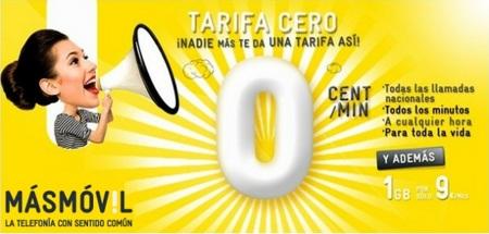 La tarifa Cero de MÁSMÓVIL se queda limitada a 5 minutos y con opción a más internet