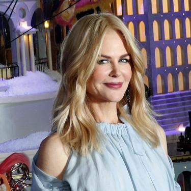 Nicole Kidman inaugura la Navidad en París con un look lady redondo