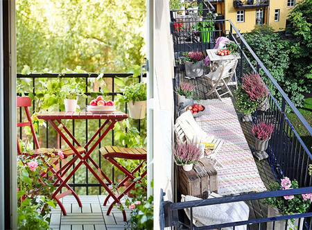 Ideas decorativas para balcones