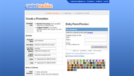 ContestMachine, gestiona los concursos de tu blog