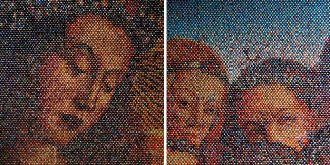 Mosaicos hechos con huevos - 2