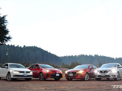 Comparativa: Mazda3 vs. Nissan Sentra vs. Toyota Corolla vs. Volkswagen Jetta (I)