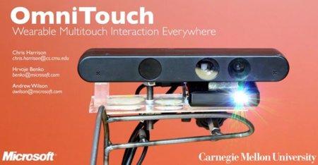 """Microsoft OmniTouch, cuando cualquier superficie puede ser una """"pantalla táctil"""""""
