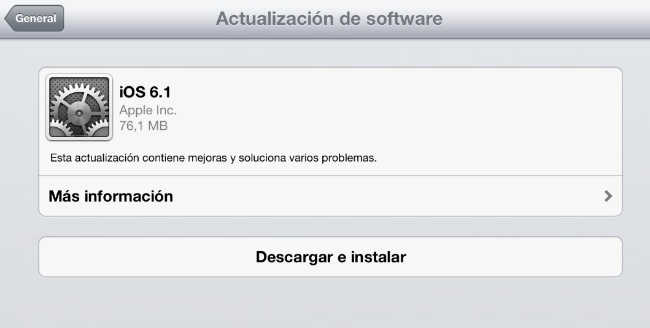 ios 6.1 apple