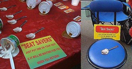 Seat Savers, la mejor treta para guardar el sitio
