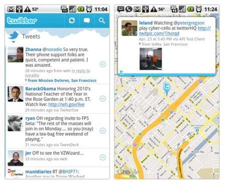 Twitter lanza su cliente oficial para Android, pero sólo para versión 2.1