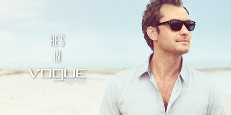Jude Law para vogue eyewear 2013