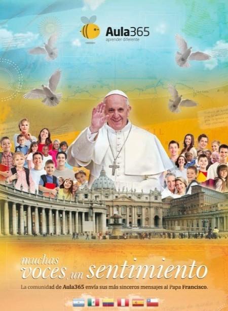 Aula 365 publica el libro con las aportaciones realizadas por la comunidad educativa al Papa Francisco
