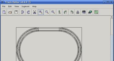 Vista del editor de circuitos de TORCS