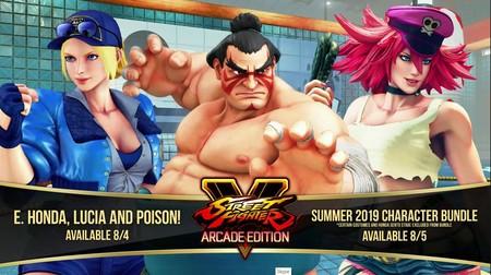Los tres próximos luchadores de Street Fighter V filtrados: E. Honda, Poison y Lucia llegan la próxima semana