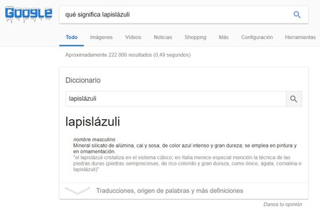 Diccionario Google Funcion