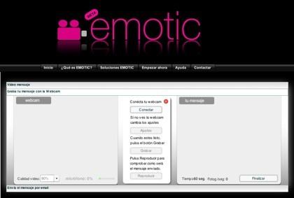 Emotic.tv, envía videocorreos privados de forma gratuita
