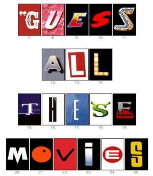 ¿Cuántos títulos de películas conoces?