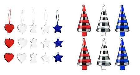Navidad de 2010 según Ikea, rojo, plata y azul