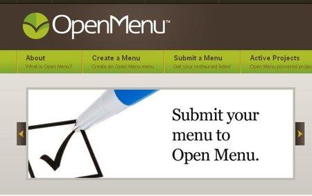 OpenMenu, base de datos para escoger plato desde casa