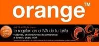 Orange, descuentos del 21 % en su Semana sin IVA