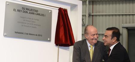 El Rey inaugura la cadena de producción del Renault Captur