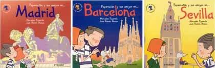 Guías de Madrid, Barcelona y Sevilla para los niños