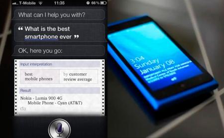 Siri se rebela contra su creador y asegura que el mejor smartphone es el Nokia Lumia 900
