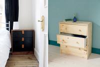 Antes y después: dándole a la cómoda Rast de Ikea un toque años 50
