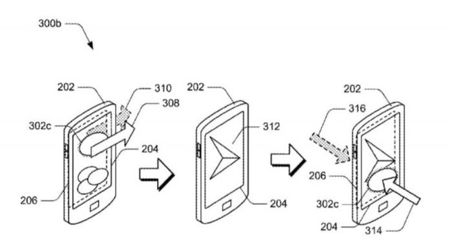 Surface Phone Back Touch Patent