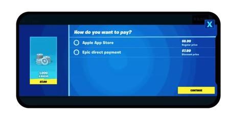 Pagos directos en Fortnite para iOS y Android