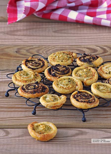 Espirales De Hojaldre Y Parmesano Dos Sabores